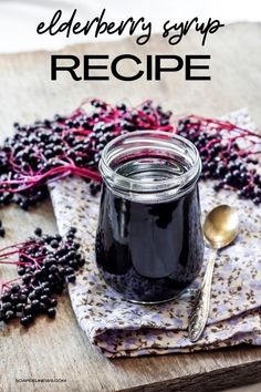 Create a natural cold remedy with this easy elderberry syrup recipe to boost immunity. Learn about elderberry syrup benefits for boosting immunity to help you recover faster from the cold or flu. Naturally boost your immune system to fight colds and flu with this easy homemade elderberry syrup recipe with honey. Learn how to make elderberry syrup with just three simple ingredients for a natural cold and flu remedy that's safe and effective. A simple holistic remedy for health and wellness. Elderberry Syrup Benefits, Elderberry Recipes, Honey Recipes, Real Food Recipes, Great Recipes, Flu Remedies, Herbal Remedies, Natural Cold Remedies, Herbalism