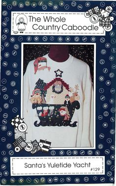 """Applique Pattern for """"Santa's Yuletide Yacht"""" by the Whole Country Caboodle by CarlasHope on Etsy"""