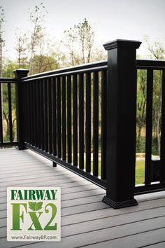 Fairway Fx2 Composite Railing made with Fibrex Material