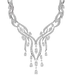 Water Collection River Diamond Necklace by Harry Winston
