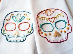embroidered sugar skulls. I can make these. I think I will.