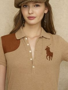 Skinny Leather Big Pony Polo - Blue Label Polos - RalphLauren.com