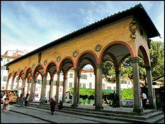 The Loggia del Pesce at the Piazza dei Ciompi. The Loggia has a Great History.