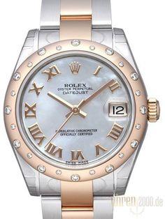 Rolex Datejust 31 Edelstahl Roségold 178341 Diamant Lünette Perlmutt R