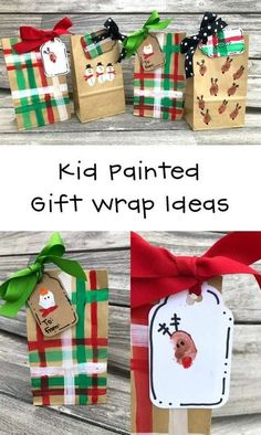 Kids love to make their own presents for others and create their own kid painted gift wrap. Hand painted gift bags are really fun to make and fabulous for wrapping too. #christmas #christmasactivites #christmascrafts #christmasprojects #diygifts #giftwrapping #kidscrafts Christmas Craft Projects, Holiday Crafts, Diy Name Tags, Brown Packing Paper, Reindeer Ornaments, Christmas Tag, Christmas Ideas, Christmas Activities, Painting For Kids