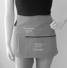 Vendor Apron Unisex Canvas Waitress Apron PICK by mzdesigns