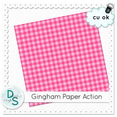 This action will make a gingham 3600x3600 paper in colours of your choice. #cu freebie