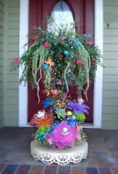 Giant LIGHTED 2 piece Garden Princess Tea Party Magical Fairy Tree Centerpiece Decoration. $525.00, via Etsy.