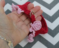 Teacup Puppy Harness, Crochet Rose and Ruffle Dog Vest, Pet Fashion for 2 to 3 Lbs, XXXS Dog Carrier Purse, Dog Purse, Puppy Sweaters, Teacup Breeds, Dog Vest, Teacup Puppies, Yorkie Puppy, Pet Fashion, Tea Cups