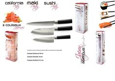 Set de 3 Couteaux Japonais + 1 Kit Sushi Party + 1 Kit Maki Party + 1 Kit California Partry - 1 Couteau...