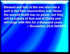 """the 1000 years of revelation 20 1 6 Revelation 20:1-6 following christ's [] via revelation 20:1-6 """"the imprisonment of satan and the thousand years"""" « settled in heaven blog [."""