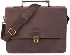 LEABAGS Brandon genuine buffalo leather messenger bag in vintage style - Nutmeg. Highlights: genuine buffalo leather - Top quality - Classy, unisex vintage look. Features: thanks to the fine stitching and the excellent manufacturing, this genuine leather bag is a stylish and loyal companion for your everyday life. Measurements (L x W x H): approximately 15 x 11 x 3 in. This shoulder bag is incredibly roomy. The many pockets and a large main compartment offer plenty of space to carry your…