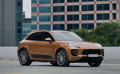 Porsche Macan, 2016, Brown Macan, sports crossover, SUV