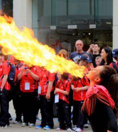 Fire breather @ Special Olympics Ireland 2014 Opening ceremony Special Olympics, Opening Ceremony, Ireland, Fire, Fashion, Moda, Fashion Styles, Irish, Fashion Illustrations
