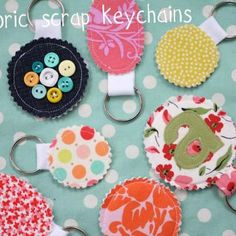 Fabric Scrap Keychains {Homemade Christmas Gifts}