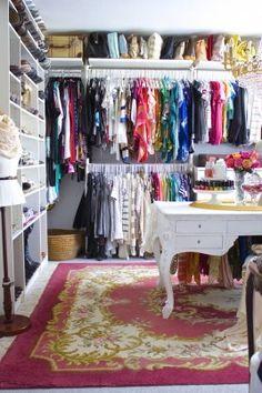 Best closet ever. Day 1 of Closet Cleanout: A Closet Reworked - Design Eur Life