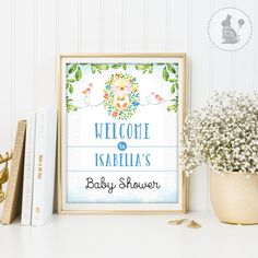 BABY SHOWER Welcome Sign. Personalized by BlueBunnyPrintables