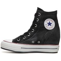 Converse Chuck Taylor All Star High-Top Wedge Sneaker - Womens | DSW ($50) ❤ liked on Polyvore featuring shoes, sneakers, wedged sneakers, converse shoes, high top shoes, hi tops and wedge sneaker shoes