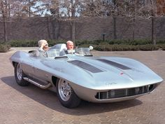 1959 Corvette Stingray Racer Concept Car (Mr. Serious britches behind the wheel) - I dont know who wrote this initial comment, but I'm LMBO!!!