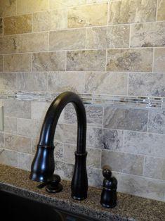 Tile Backsplash - like! would prefer more pale subway tiles though