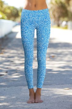 0927433411f8f Miami Jeans Lucy Blue Printed Performance Yoga Pants - Women. Gym  GearPatterned Leggings OutfitsWhite ...