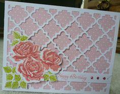 """Crafty """"Magra"""": October 2012. Stamp set: PTI The Sweet Life. Die: PTI Quatrefoil die."""