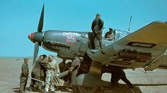 Stuka Ju 87 D of II./St.G.2 'Immelmann' being prepared for an operation. On t...