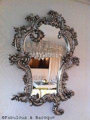 Fabulous Claudette Baroque Mirror - Silver Leaf - Client Photo