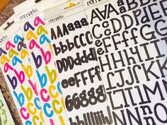 American Crafts Remarks Alphabet Stickers 4 packages NEW! over 1300 alphabet stickers! scrapbook ideas, art craft, by sweetpeacejewelry on Etsy