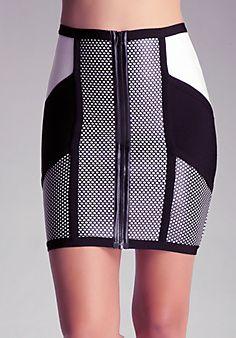 bebe - Puff Mesh Skirt - Very Sexy