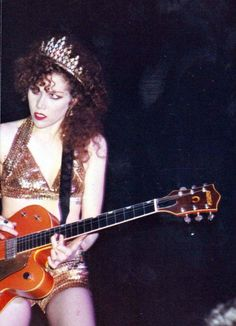 Music Babes - Jeano Roid Coffinberry - Poison Ivy, The Cramps Stay Sick Tour, Club Nu, Miami, 1990.