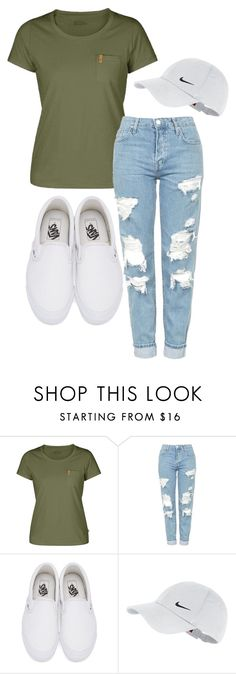 Untitled #4 by haybird917 on Polyvore featuring Fjällräven, Topshop, Vans and NIKE