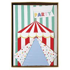 I adore these invitations for a carnival or circus party!