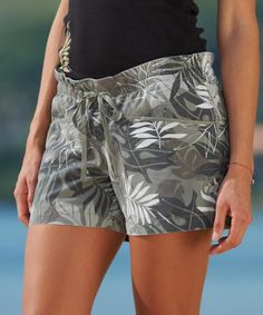 Rainforest - Light Camo Print Drawstring Walkshort