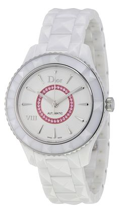 Christian Dior VIII White Dial Ceramic Ladies Watch CD1245EFC001 *** See this great watch.
