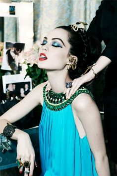 """Make-up/Dress-up"" by Ellen von Unwerth Vogue Gioiello, April 2009 Model : Taylor Warren"