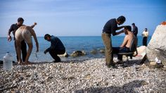 """This is a reportage about Afghans refugee in Greece on the """"La Repubblica"""" online news."""