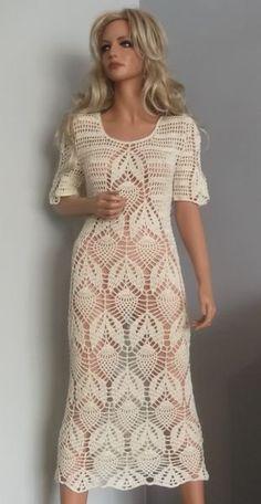 Omena-bawełniana sukienka by ALDOARThandmade on Etsy