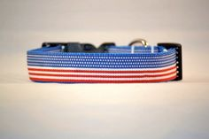 American Flag Dog Collar USA Red White Blue July 4th Stars and Stripes Memorial Labor Day - U Pick Size- Small Medium Large Extra Large XXL. $14.00, via Etsy.