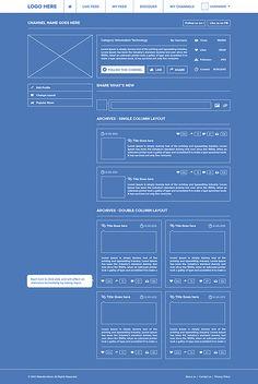 Trendlinks Social Network Wireframing / Waseem Arshad / Source
