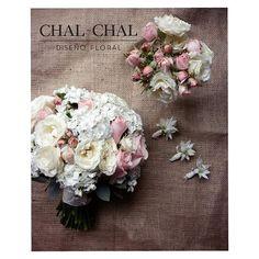 #bouquet y #boutonnieres para Nancy ⛪ #chalchalflores #wedding