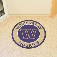 Round University of Washington Floor Rug