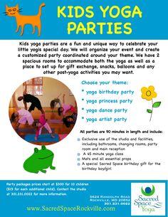 kids yoga party flyer ideas