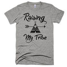 Raising my tribe, boho, festival, unisex, short sleeve soft t-shirt