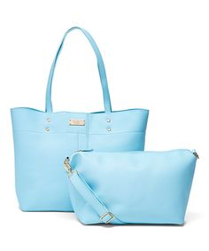 Love this Baby Blue Tote & Pouch on #zulily! #zulilyfinds