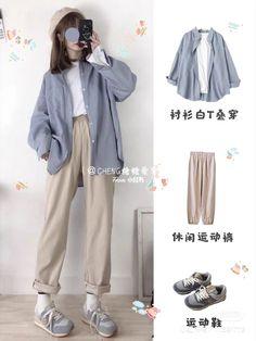 Korean Girl Fashion, Ulzzang Fashion, Korean Street Fashion, Kpop Fashion Outfits, Mode Outfits, Cute Fashion, Asian Fashion, Korean Casual Outfits, Korean Outfit Street Styles