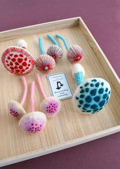 felt mushrooms / The Felted Specimens of Hine Mizushima
