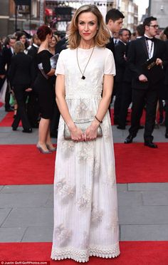 Ace in lace: Katherine Kelly looked stunning when she attended the Oliviers at London's Ro. Kelly Cut, Katherine Kelly, Angela Lansbury, Kevin Spacey, Coronation Street, Looking Stunning, Bespoke, Lace Skirt, Red Carpet