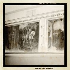 """End of the Rainbow on Broadway: Behind the Belasco -  This mural, located in the lower lobby at the theatre, was painted by the artist Chmielewski. It depicts scenes from the early Wagner opera """"Rienzi."""" The portrait of the pope to the right of this mural is David Belasco himself."""