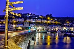 Early morning in the town of Looe in Cornwall